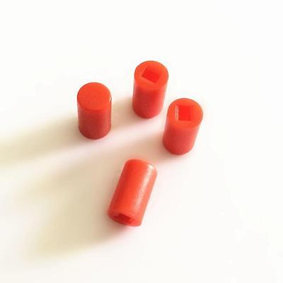 50PCS A04 Switches 6*10mm Round Switch Cap Push Button Red
