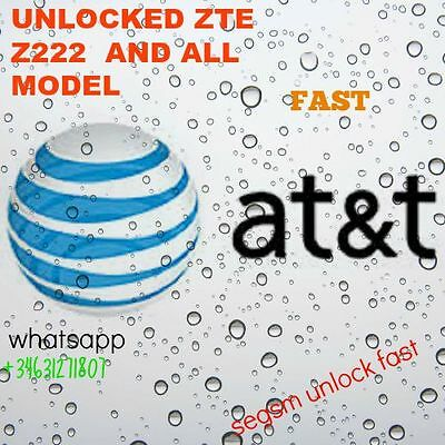 AT&T USA ZTE Unlock CODE Models Z222 all models
