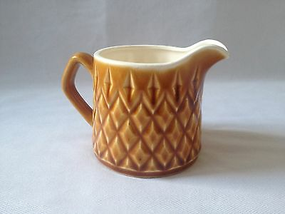 Lovely Vintage C1960's Small Brown Pottery Milk Jug - Made In Japan