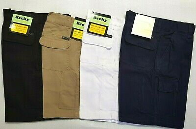 Men's Cotton Drill Workwear Work Pants Cargo Shorts,Workshorts,Pants,Size 30-46