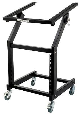 "Porta Rack Mixer Mobile 12 + 9U Unita 19"" Ruote Supporto Stand Carettino Robusto"