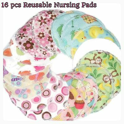 16 pcs Reusable Nursing Pads Leak proof / washable- Set of 8 pair