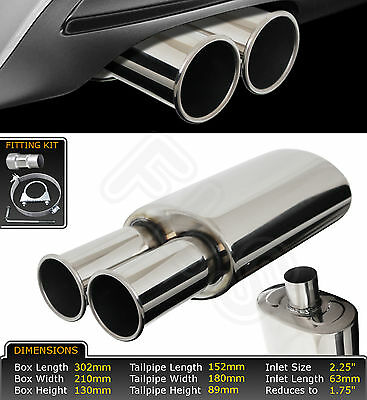 Universal Stainless Steel Performance Exhaust Backbox - St35 – Bmw 1