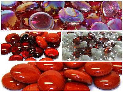 Glass Pebbles / Nuggets / Stones - CHOOSE FROM ALL OF MY RED STONES