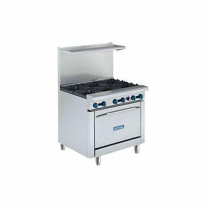 "New Royal Range 36"",RR-6, W/Oven"