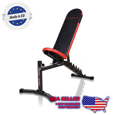 Marbo Sport Lifting Bench Incline Flat Decline Lat  Pulldown Leg Preacher Curl
