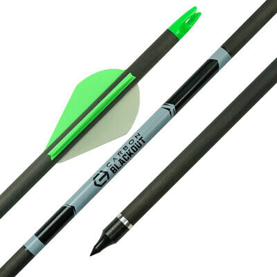"""30"""" Apex Carbon Blackout Arrow - For Bow hunting and target shooting archery"""