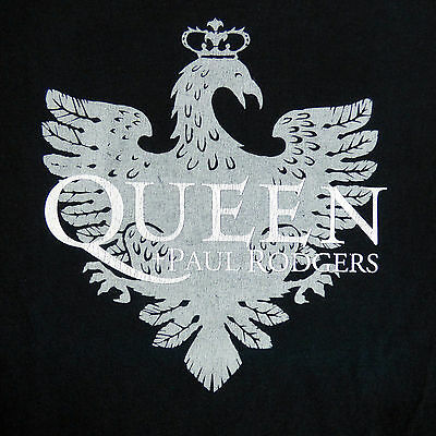 Queen Paul Rogers XL Black T-Shirt North American Tour 2006 100% Cotton