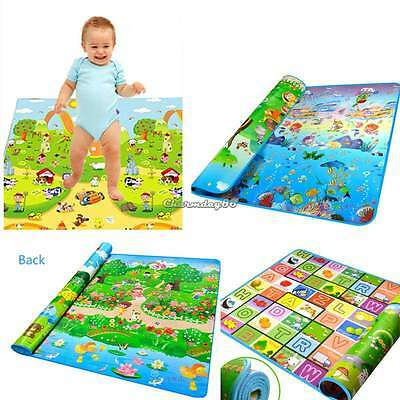 Baby Kid Play Mat Activity  Floor Soft safety Gym Crawl blanket Ocean Zoo Carpet