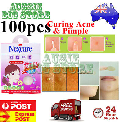 2 x 50 Pcs Nexcare 3M Acne Dressing Pimple Sticker Inflamed Zit Heal Patch Thin