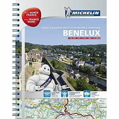 Benelux North France A4 Spiral Atlas Michelin Editions des Voyages 9782067192737