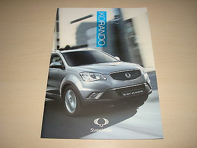 SSANGYONG KORANDO S, SX, ES, EX, AUTO UK SALES BROCHURE c.2011 NEW, OLD STOCK