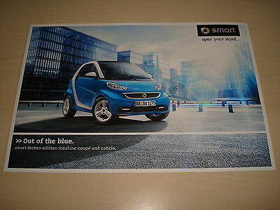 Smart Fortwo 'iceshine' Edition Coupe & Cabrio Uk Sales Brochure - July 2012