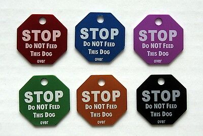 STOP: DO NOT FEED THIS DOG - Custom Pet Tag Small