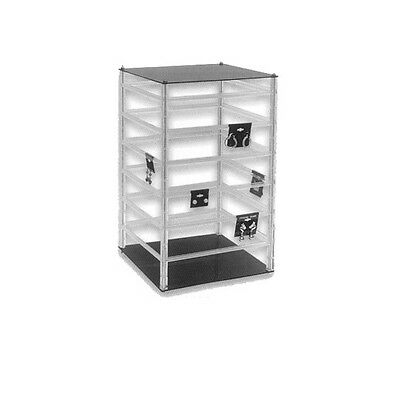 Square Counter Top Large Rotating Acrylic Earring Display Stand and 200 cards