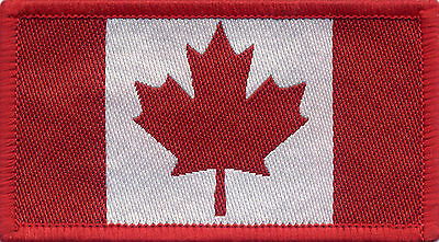 Canadian Flag Canada Woven Badge, Patch 8cm x 4.5cm