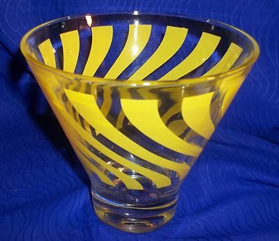 Decorative Yellow and Clear Bar Glass