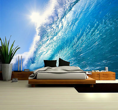 Prepasted wallpaper Mural TV photo Wall covering Decor SURFING 2.1x1.5m BZ642