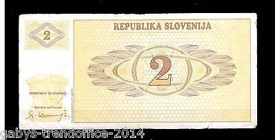 1) BANK-NOTE -/ SLOWENIEN ( 2 Tolarjew ) 1990