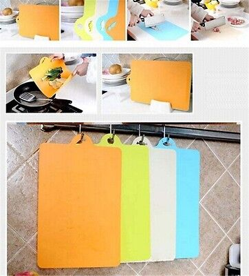Flexible Plastic Chopping Mats Vegetable Cutting Dicing Board Kitchen Tools FW