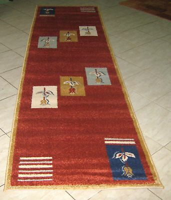 New Brick Colour Modern Heatset Floor Hallway Runner Rug 80X300Cm