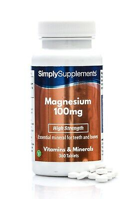 Simply Supplements Magnesium 100mg 360 Tablets (E419)