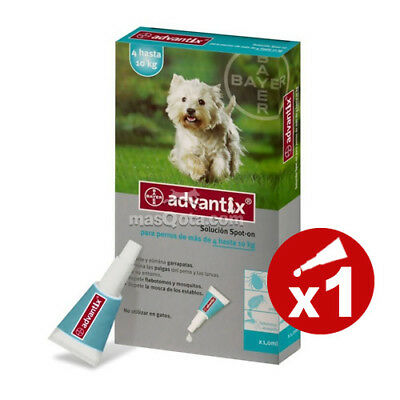 ADVANTIX 100 Spot-on BAYER - PERROS (4-10 KG), ANTIPARASITARIO - 1 PIPETA