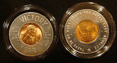 V-E & V-J Day Victory Year - 70th Anniversary - Wheat Lincoln Penny