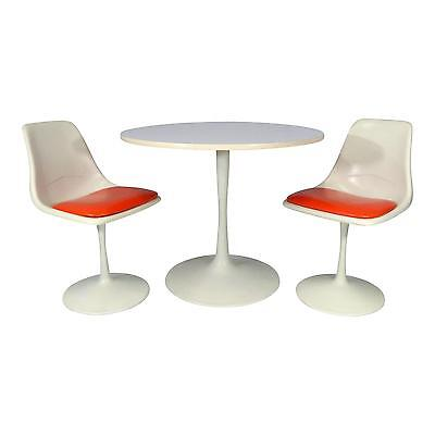 Mid Century Modern Tulip Dining Set Table and Chairs n Style Saarinen/ Burke