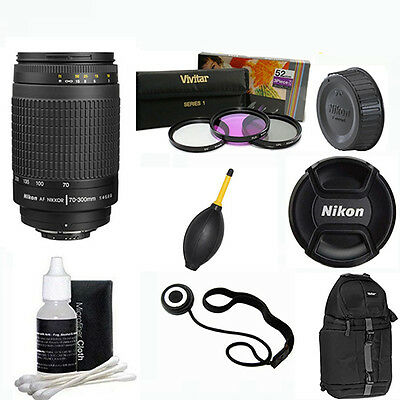 Nikon AF Zoom NIKKOR 70-300mm f4-5.6G Lens + GIFTS + BACKPACK FOR NIKON D40 D80