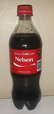 Share a Coke with Nelson - 20 oz Bottle - New, Sealed - 2015 - Coca Cola