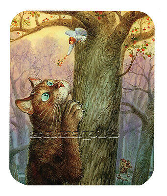 Item#1751 Big Cat and the Tree Art Mouse Pad