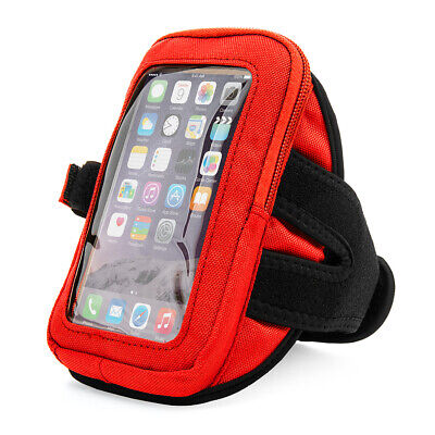 Black VanGoddy Zippered Armband Pouch For iPhone XS Max /Samsung Galaxy S9 Plus