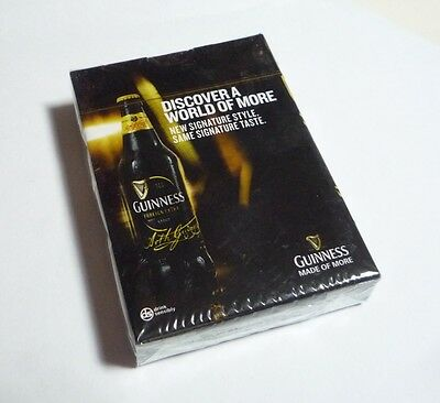 MALAYSIA Playing Cards GUINNESS STOUT Black Pack Sealed 2014 Discover World More
