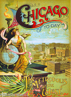 Chicago Illinois 1893 World's Fair United States Travel Advertisement Poster 2
