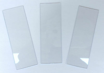 250 Microscope Slides. Disposable Clear Plastic 1x3 inch 25mm x 75mm. 440micron