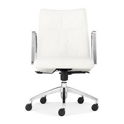 Dean Low Back Office Chair White
