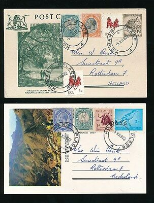 South Africa 1972 Illustrated Stationery Uprated Fine Used Howard Place