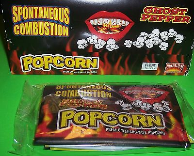 Spontaneous Combustion Microwave Popcorn W/ Ghost Pepper,case Of 12 -3.5 Oz Bags
