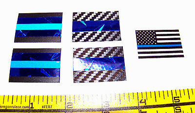 Thin Blue Line Products Diamond Plate and Carbon Fiber Decal 5-Pack SHIPS FREE!