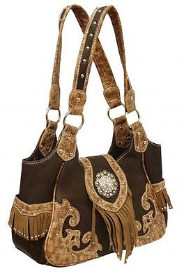 WESTERN STYLE FRINGE and CONCHO HANDBAG - BNWT - G and S COLLECTION USA