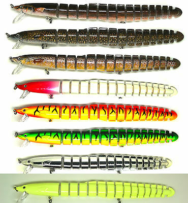 Bass Pike Fishing Bait Lure Jerkbait Swimbait Life-like Eel NEW
