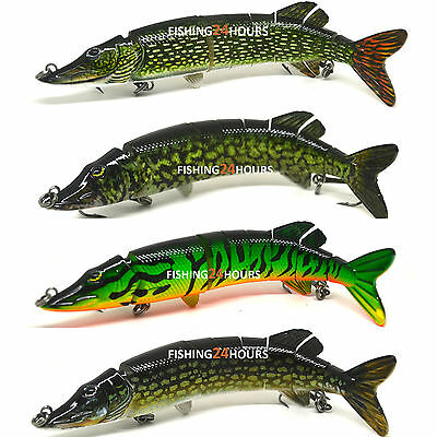 Pike Fishing Bait Lure Jerkbait Swimbait Life-like Baby Pike NEW