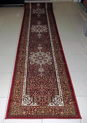 New Extra Long Persian Design Heatset Floor Hallway Runner Rug 80X400Cm
