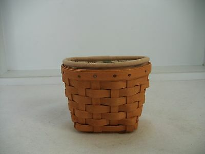 Longaberger Xs Gate House Basket W/ Liner + Protector