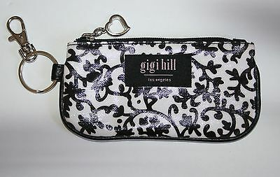 Gigi Hill AVA in Willow Black White & City Red Wallet Accessory Keychain