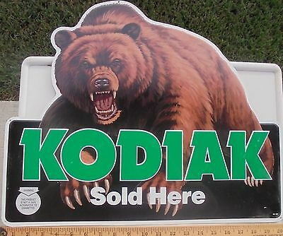 "Cool Kodiak/bear/grizzly Snuff Metal Sign New/unused 20""x17"