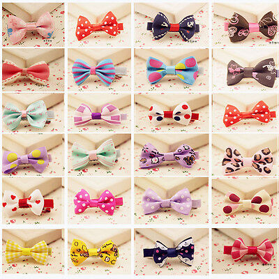 10 pcs Toddler Girl Baby Hair Clip Ribbon Bow Kids Satin Bowknot Headband Hot