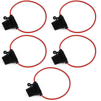 5x14AWG Wire Standard Blade In-line Car Truck Automotive Fuse Holder Fuseholder