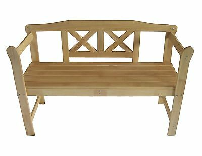 Outdoor Wooden 2 Seater Garden Bench Seat Furniture Patio Hardwood Chair Rest